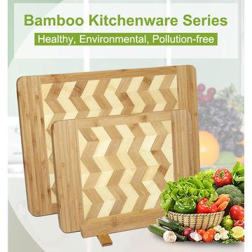 China Kitchen Fruit & Vegetable FDA Test Eco-friendly Custom Natural Bamboo Chopping Board Set