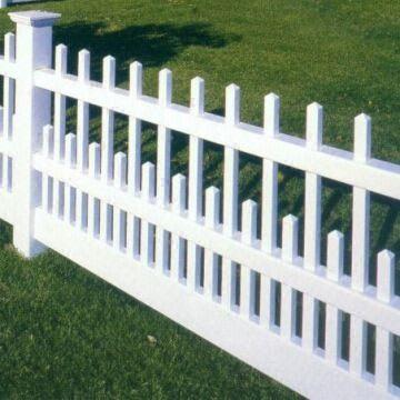 PVC / Vinyl Fence for garden with different styles, picket, privacy ...