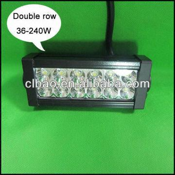 Hot double row 36w 2400lm 12 volt led light bar for atvutvsuv double row 36w 2400lm 12 volt led light bar aloadofball Gallery