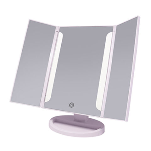 China Compact Mirror Portable Folding Vanity Mirror Triple Fold Makeup Mirror For Gifting On Global Sources