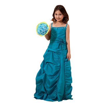 Blue Flower Girl Dresses Cheap Girl Pageant Dress Kids Dresses For