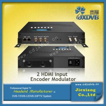 dvb encoder modulator 2* HDMI in (2 for backup), 1*ASI in 4
