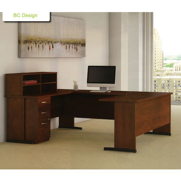 ... China Multi Functional Modular U Shape Office Table With Fixed Cabinet  And Top Storage ...