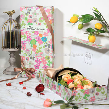 China Custom hot sale paper print flower packaging box