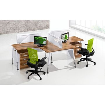China Modern Modular Office Table Work Station Cubicles With Metal Legs Cf