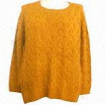 b996e13a0a13ad ... China hand knit yellow latest design woolen girls Sweater