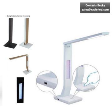 Super Bright Led Table Lamp With L Shape Diffuser Can Be Folded Up
