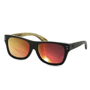 4e12219818 China OEM 100% natural bamboo and wood sunglasses