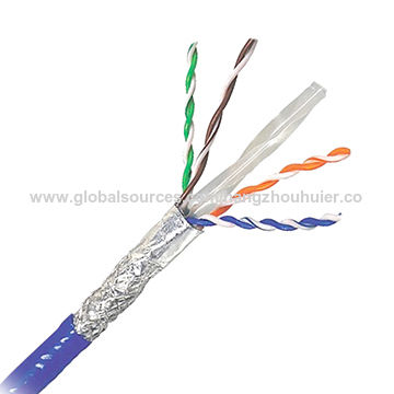 SFTP Cat6 Bare Copper Networking Cables, 4pair 23AWG HDPE Insulation ...
