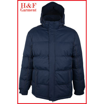 China Polyester Padding Winter Jacket, Fixed Hood Padded Lined, Custom Designs/Labels/Sizes/Colors/Logos