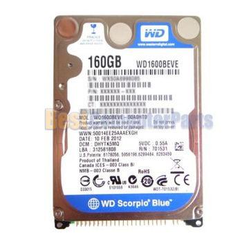 """NEW WD1600BEVE WD Scorpio Blue 160GB 5400RPM 2.5/"""" Internal Hard Drive"""