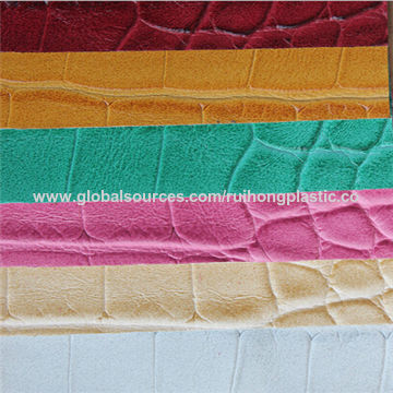 Croco Grain Texture Pu Leather Materials For Making Sofa Upholstery