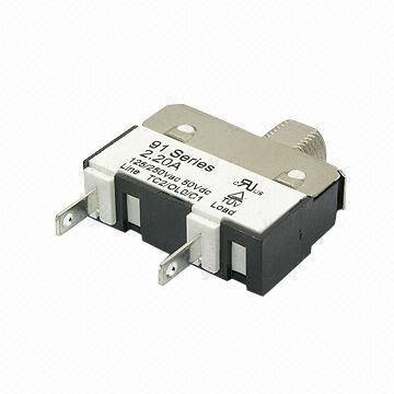 Thermal Circuit Breaker with 1,500V AC x 1 Minute Dielectric Strength
