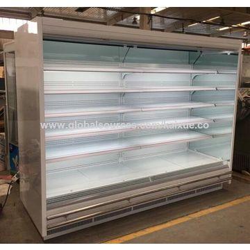 China Multideck vegetable display open cooler for supermarket