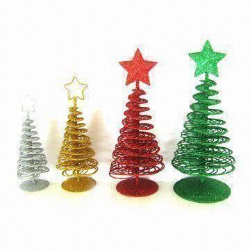 china desktop christmas tree decorations made of wire various sizes are available - Wire Christmas Tree