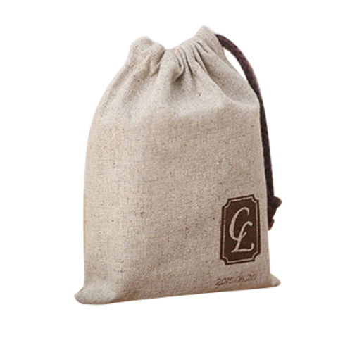 China Personalized Natural Linen Wedding Favor Bags Custom Logo Printed  Drawstring Pouch ... 9d271db2a