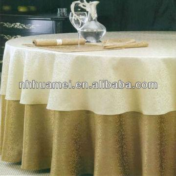 China Hotel Table Cloth Material:100%cotton Or Polyester SIze:from1.4
