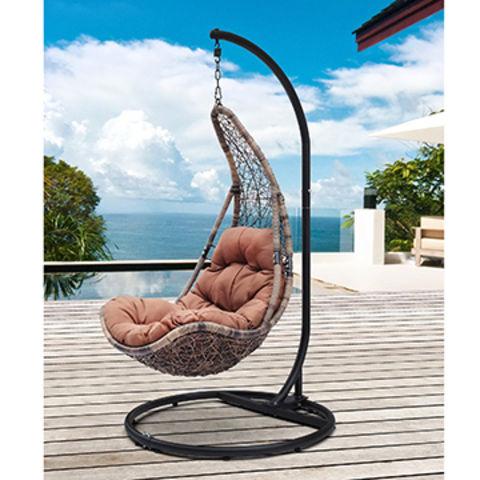 China Pe Rattan Wicker Hanging Swing Chair With Cushion On Global