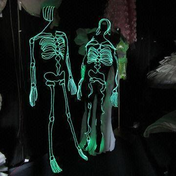Glowing EL Wire Skeleton Costumes, OEM and ODM Orders are Welcome ...
