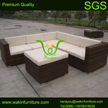 china l shape garden furniture rattan sofa