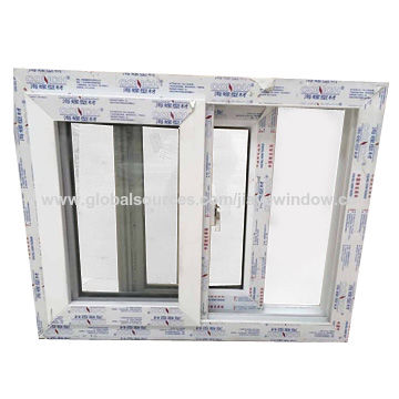 China Conch Profile UPVC Sliding Window with fly Screen design on ...