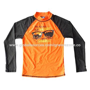 aa09e5425 China 2016 fashionable long sleeve boys' swimming wetsuits of print
