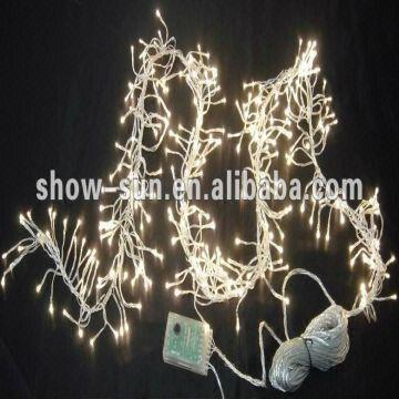 china 288 led cluster christmas lights wholesale 17m warm white