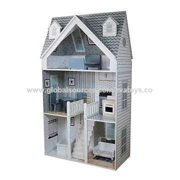 China 2018 Joyful Assembled Role Play Doll House Wooden Toys For