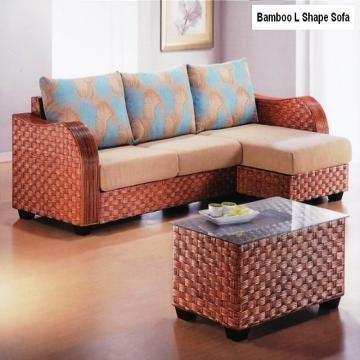 Bamboo L Shape Sofa Set Global Sources