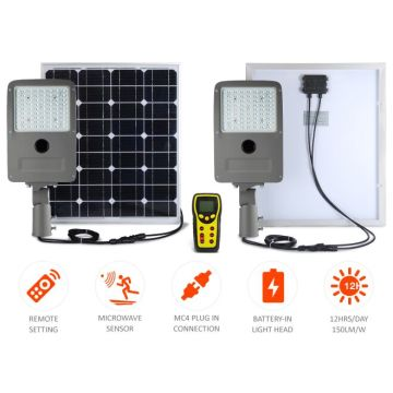 HELIOS solar street LED light connected directly with solar