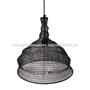 India Iron Wire Mesh Pendant Light