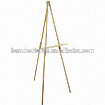 natural wood floor easel, 65'' high,easy assemble with hardware