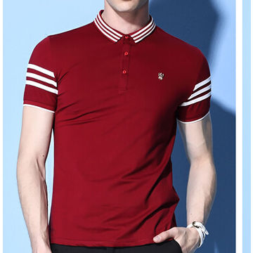 ... China Men s Latest Fashion and New Design Polo Shirts with Long Sleeves  and V-neck ... 834600f915e