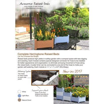 ... China Stackable Flower Pot Square Assemble Planter Modular Raised Garden  Bed ...
