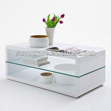 2014 new modern white high gloss wood coffee table | global sources