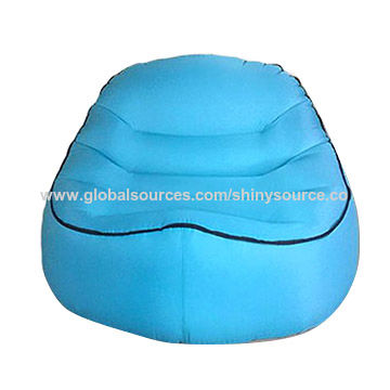 New Inflatable Air Lounger Chair Lazy Bag Sofa In Waterproof Nylon Camping Beach Outdoor