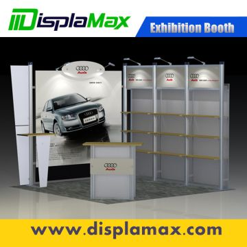 Portable Exhibition Case : Standard exhibition booth portable display stand aluminum modular
