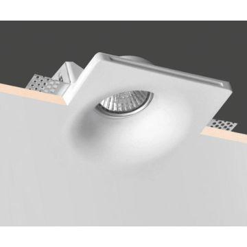 Art Modern Style Square Gypsum Plaster Trimless Recessed Led