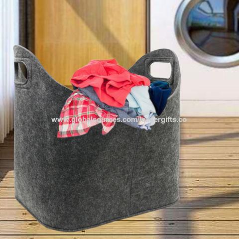 online buy wholesale large decorative baskets from china.htm china bsci factory dark grey firewood felt storage basket bin bag  bsci factory dark grey firewood felt
