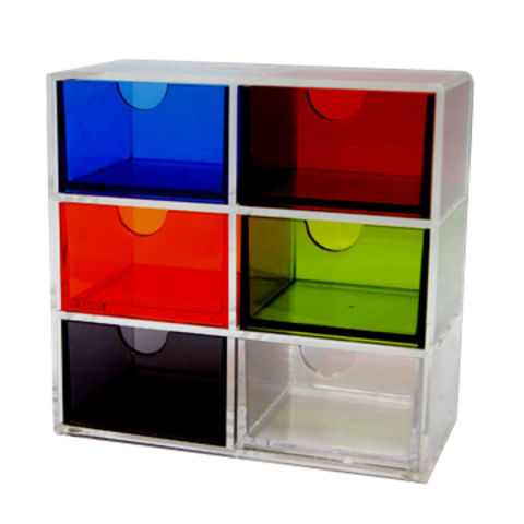 Taiwan Colorful Acrylic 6 Drawer Cosmetic Jewelry Organizer And Holder Set With Rack On Global Sources