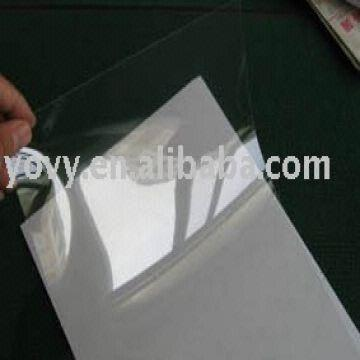 clear transparent PET film for inkjet printing,100microns,A3/A4