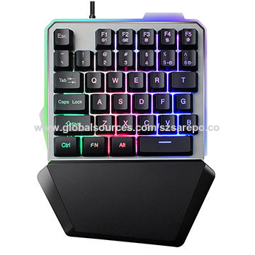 f7b673398ed China Cool Design Single Hand Operation Membrane Gaming Keyboard with Big  Palm Rest ...