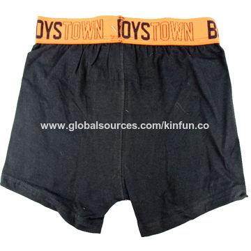 China Boys' boxer shorts with nylon jacquard elastic on waistband