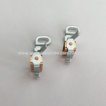 China Metal stamping parts,assembled w/customized designed screws,riveting and welding with silver contact