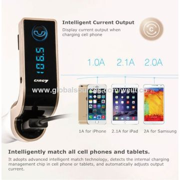 China WEILIANTE Car G7 Bluetooth FM Transmitter with TF/USB Flash Drives Music Player