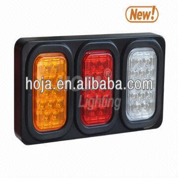 LED Tail Light Box, 3 Rectangular Light Assembly truck and