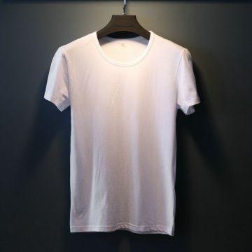 5e627b2d Men's T-shirt suppliers brand OEM custom Logo cotton black white grey color  cheap apparel wholesale
