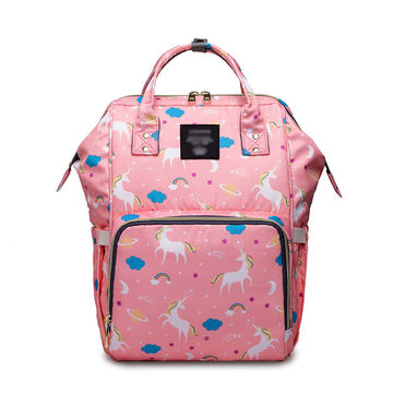 UK Baby Diaper Nappy Changing Bag Maternity Mummy Backpack Yummy 5 colours