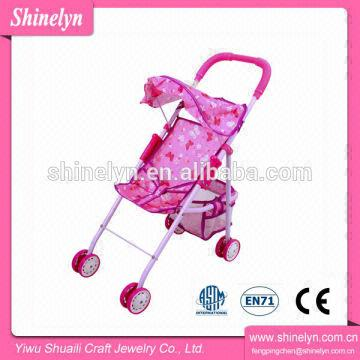 3b124c905 808-5 Toy game customer goods kids toys pink baby doll stroller with car  seat for girls