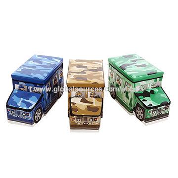 Toy storage box China Toy storage box  sc 1 st  Global Sources & China Kidsu0027 folding toy storage box car shape kidsu0027 ottoman used ...